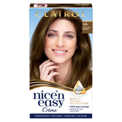 Nice'n Easy Permanent Hair Dye 6A Light Ash Brown