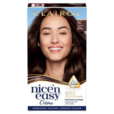 Nice'n Easy Permanent Hair Dye 5C Medium Cool Brown