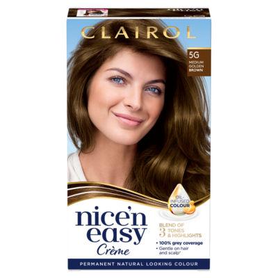 Nice'n Easy Permanent Hair Dye 5G Medium Golden Brown