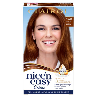 Nice'n Easy Permanent Hair Dye 5WR Medium Warm Auburn