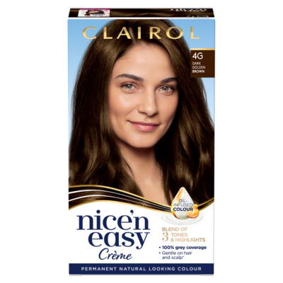 Nice'n Easy Permanent Hair Dye 4G Dark Golden Brown