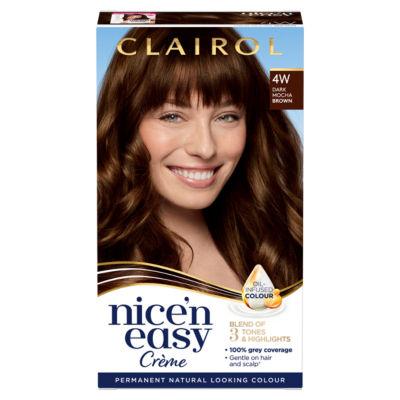 Nice'n Easy Permanent Hair Dye 4W Dark Mocha Brown
