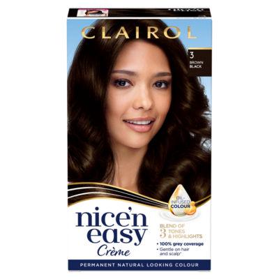 Nice'n Easy Permanent Hair Dye 3 Brown Black