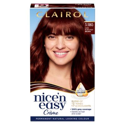 Nice'n Easy Permanent Hair Dye 3.5BG Dark Burgundy Brown