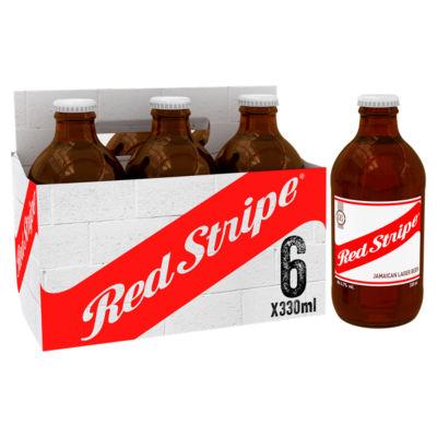 Red Stripe Jamaican Lager Beer Bottles