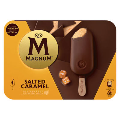 Magnum 4 Salted Caramel Ice Creams