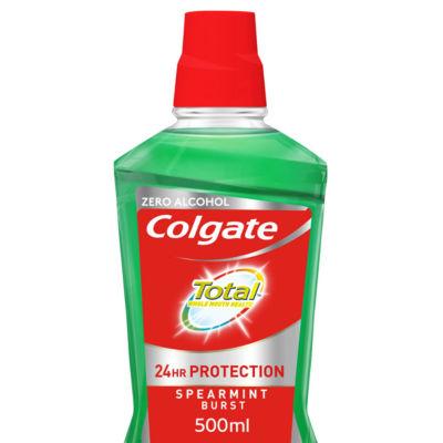 Colgate Total Spearmint Burst Mouthwash with CPC