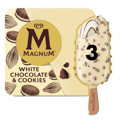 Magnum 3 White Chocolate & Cookies Ice Creams