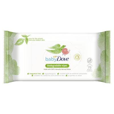 Baby Dove Fragrance Free Biodegradable Wipes