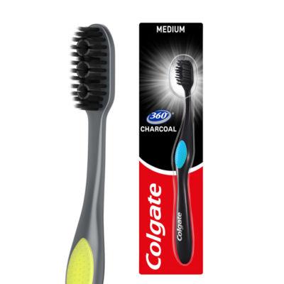 Colgate 360 Deep Clean Black Medium Toothbrush