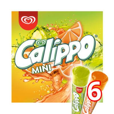 Wall's Calippo Mini 6 Orange & Lemon-Lime Ice Lollies
