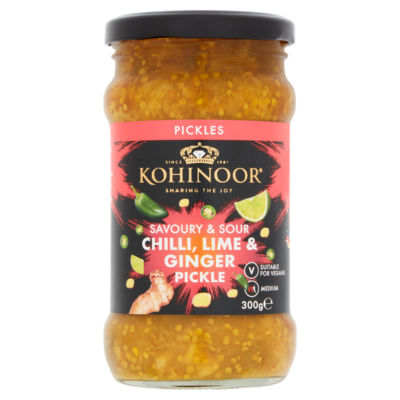 Kohinoor Savoury & Sour Chilli, Lime & Ginger Pickle