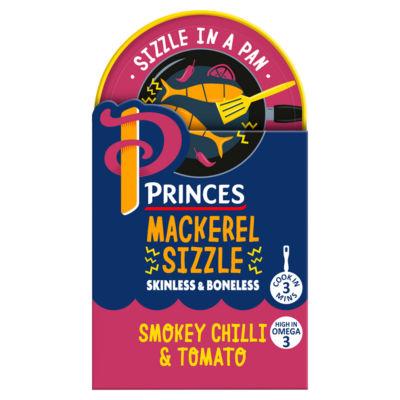 Princes Mackerel Sizzle Smokey Chilli & Tomato