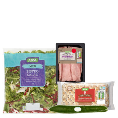 ASDA Ham Salad Sandwich Thins Bundle