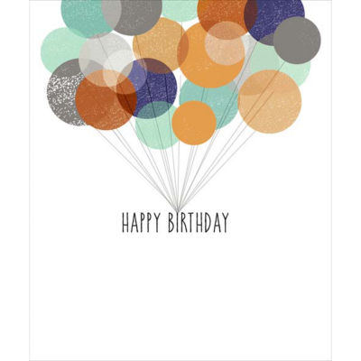 George Home Foil Balloons Birthday Card