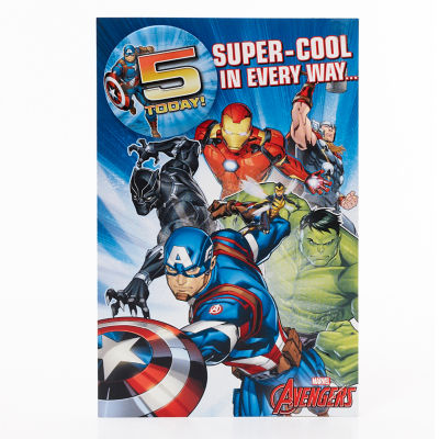 Marvel Marvel Avengers You're 5 Birthday Card
