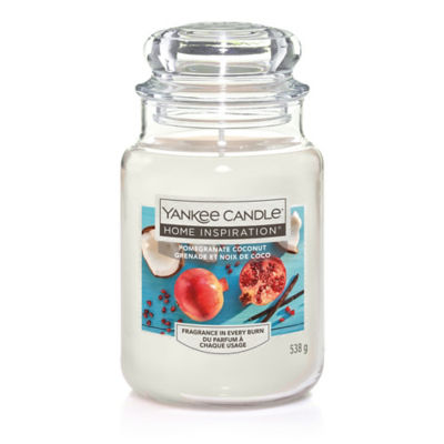 Yankee Candle Home Inspiration  Pomegranate Coconut Large Candle Jar
