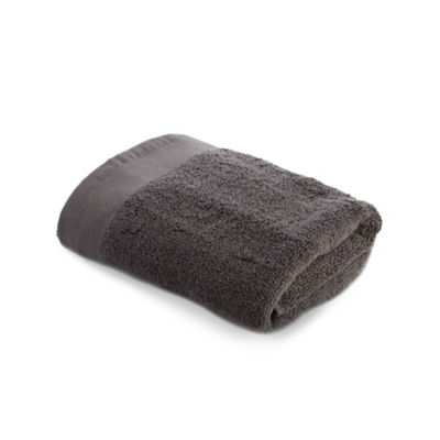 George Home 100% Cotton Hand Towel - Charcoal