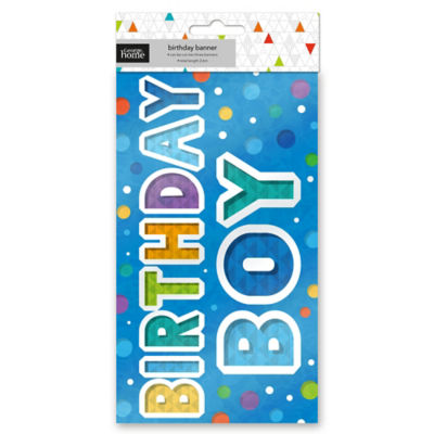 George Home Happy Birthday Blue Foil Banner