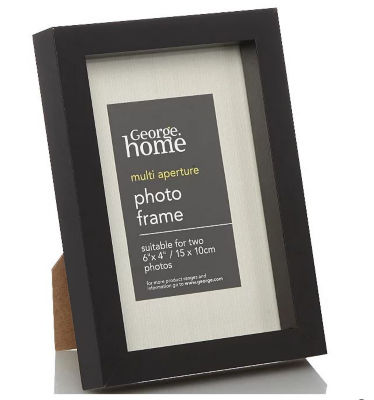 George Home Black Boxed Photo Frame 6 x 4Inch