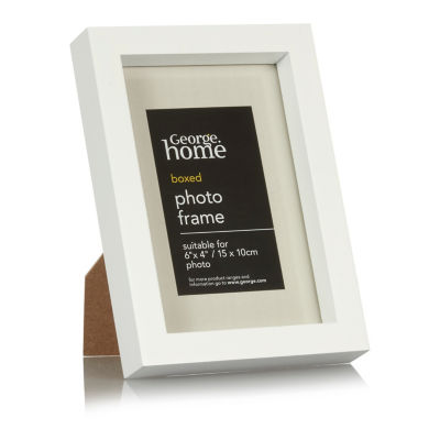 George Home White Boxed Frame 6 x 4Inch