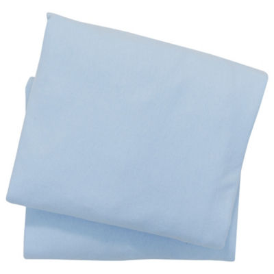 George Home Blue Cotbed 2pk Fitted Sheets
