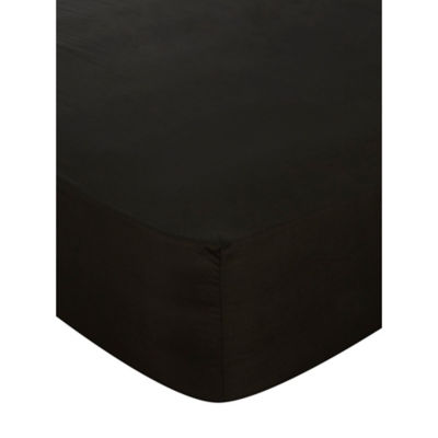 George Home Black Fitted Sheet Double