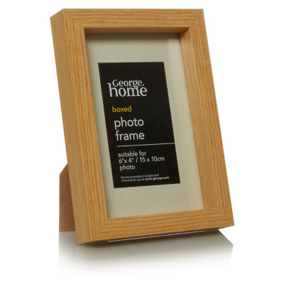 George Home Natural Boxed Photo Frame 6 x 4Inch