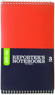 Pen & Gear Poly  Reporters Notebook 3 Pack