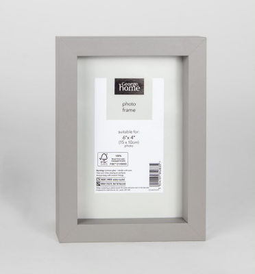 George Home Grey Boxed Frame 6 x 4Inch