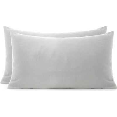 George Home Grey Brushed Cotton Pillowcase Pair