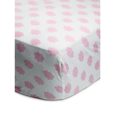George Home Pink Cloud Easy Care Toddler Fitted Sheet