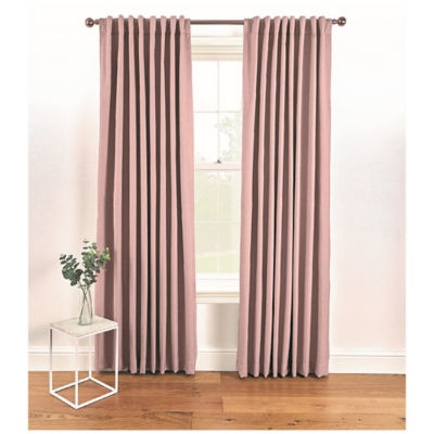 George Home Pink Blackout Hidden Tab Top Curtains