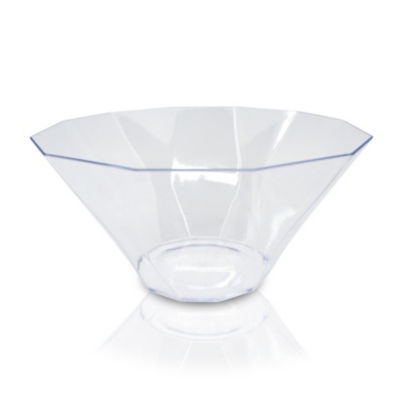 George Home Facetted Clear Plastic Bowl