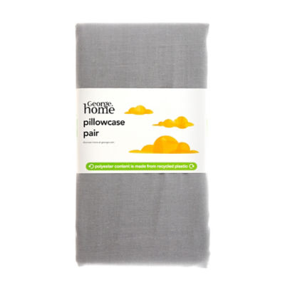 George Home Basics Pillowcase Pair Made Witth Recycled Polyester