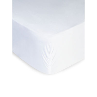 George Home White Luxuriously True Grip Soft 300 Thread Count Fitted Sheet