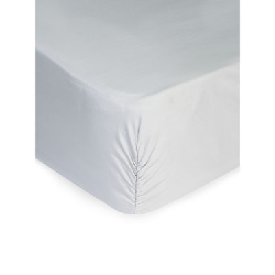 Silver Luxury 300TC 100% Cotton Fitted Sheet King