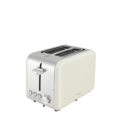 Toshiba Cream GST501G-20 Stainless Steel 2 Slice Toaster