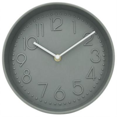 George Home Grey Round Wall Clock