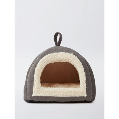 George Home Grey Cord Cat Igloo Carry Bed