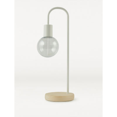 George Home White Curved Wire Battery Bulb Lamp