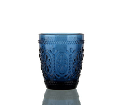 George Home Blue Embossed Tumbler Glass