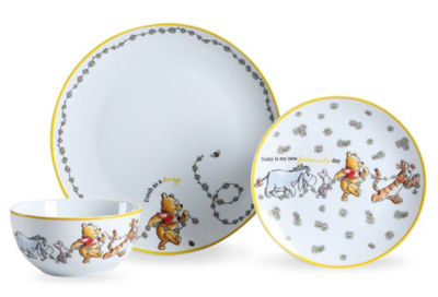 George Home Disney Winnie the Pooh Dinner Set 12 Piece
