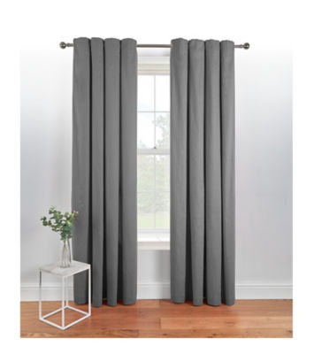 George Home Charcoal Eyelet Curtains