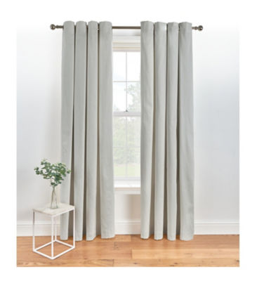 George Home Lined Eyelet Curtains - Grey