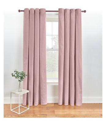 George Home Pink Eyelet Curtains