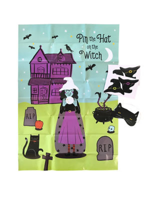 George Home Halloween Pin The Hat on the Witch