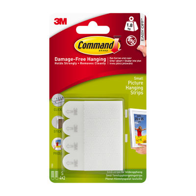 Command Picture Hanging Strips White Small 4 Sets