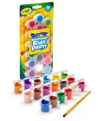 Crayola Washable Kids' Paint 18 Assorted Colours