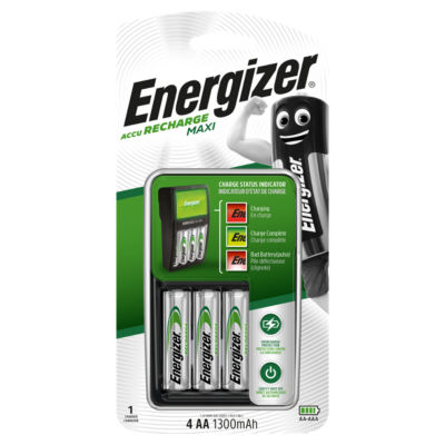 Energizer ACCU Rechargeable Maxi AA Batteries & Charger